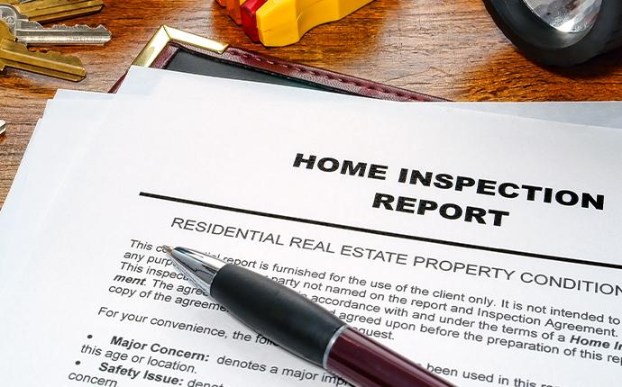 paper of home inspection report