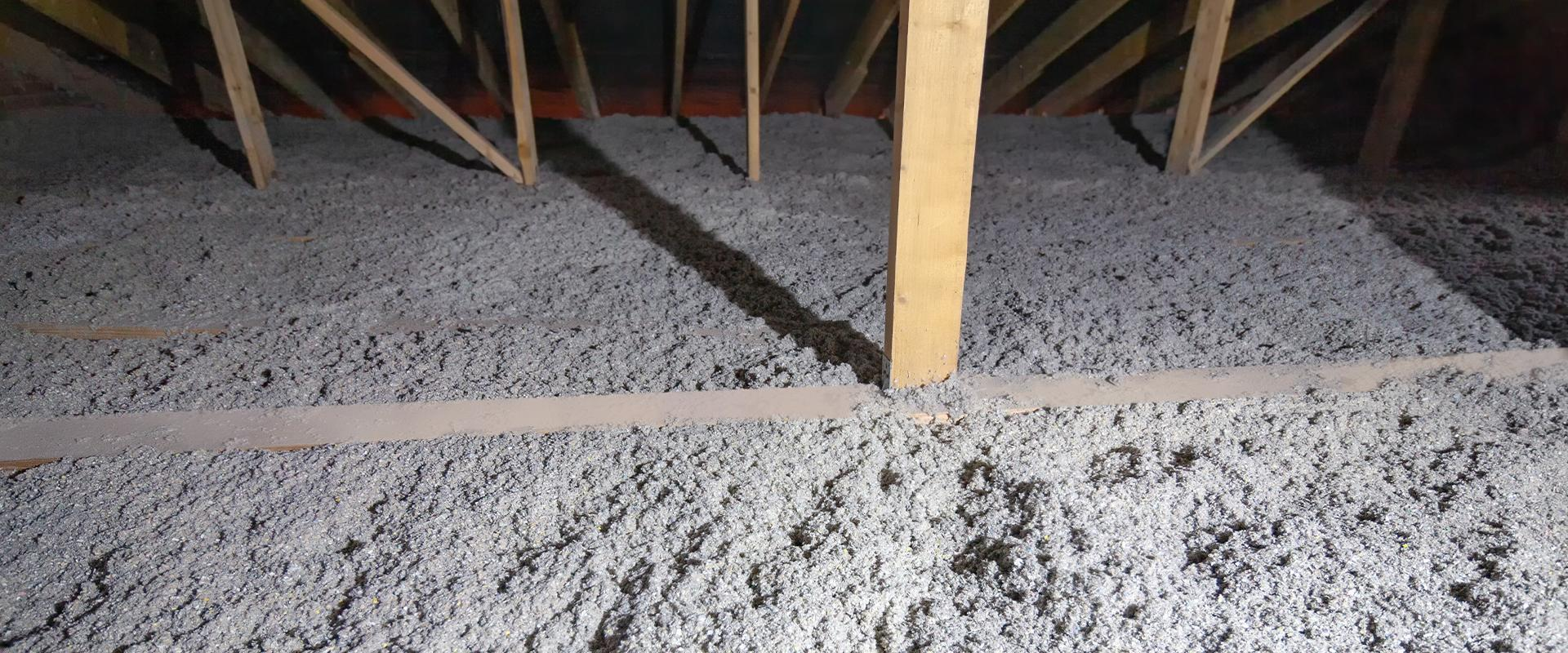tap insulation in an attic