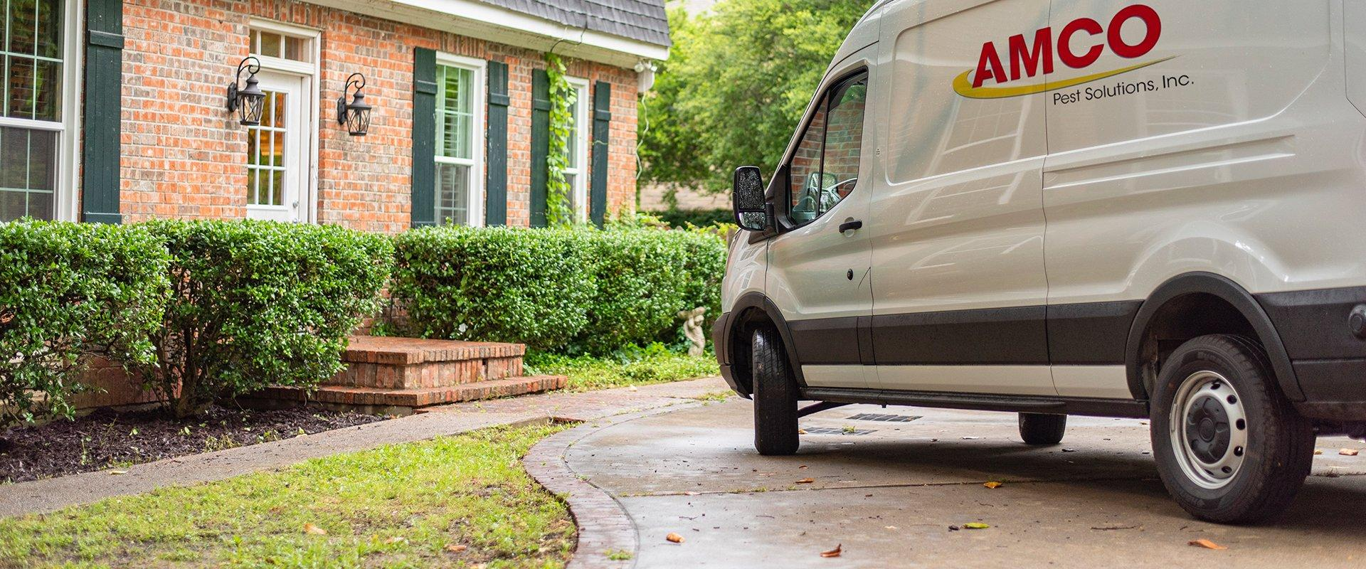 a service van outside a home