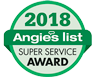 2018 Angies list super service award logo