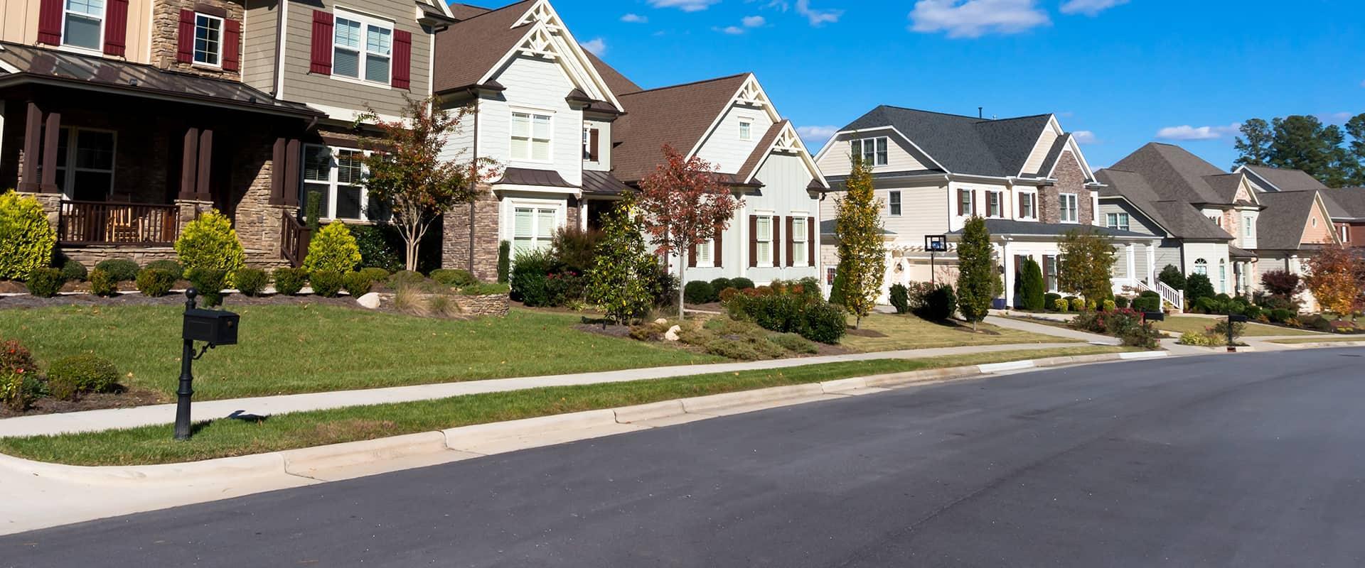 street view of a row of houses in philadelphia pennsylvania
