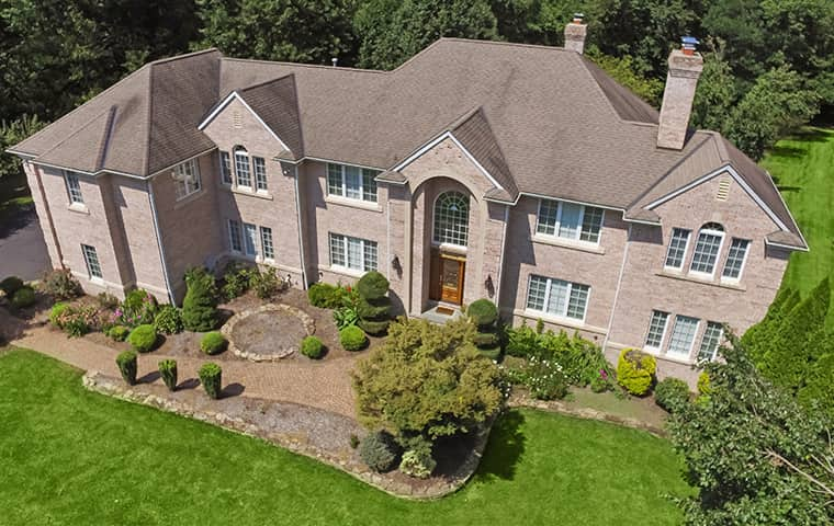 aerial view of a large home in malvern pennsylvania