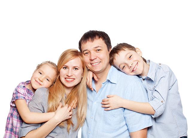 a happy family of four in malvern pennsylvania