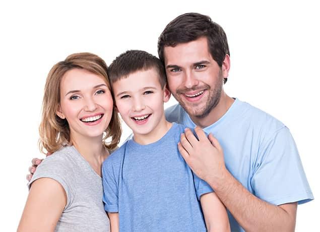 a happy family of three in wayne pennsylvania