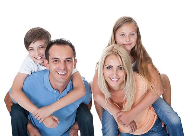 a happy family of four in bryn mawr pennsylvania