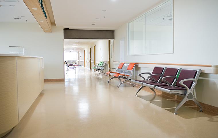 empty hallway in a hospital