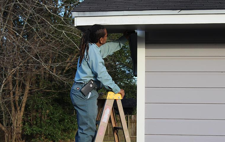 lumberton tx pest control tech sealing house