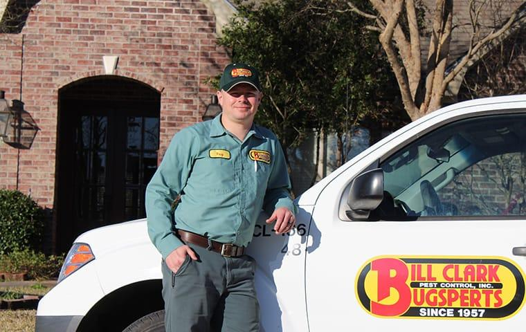 technician servicing a home in spurger texas