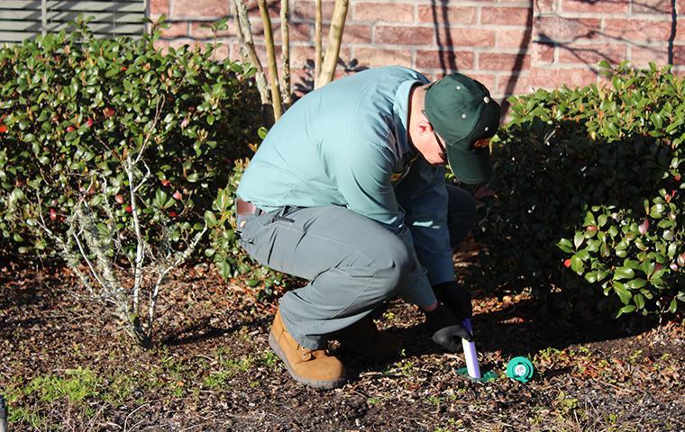 a bill clark bugspert installing termite control in southeast tx