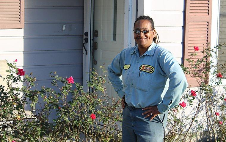 technician servicing a wildwood texas home