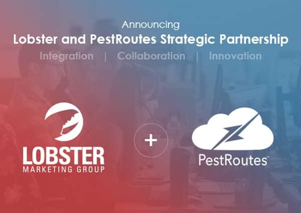 lobster marketing group and pestroutes logos