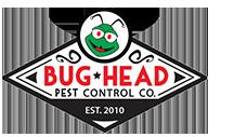 bug head pest control logo