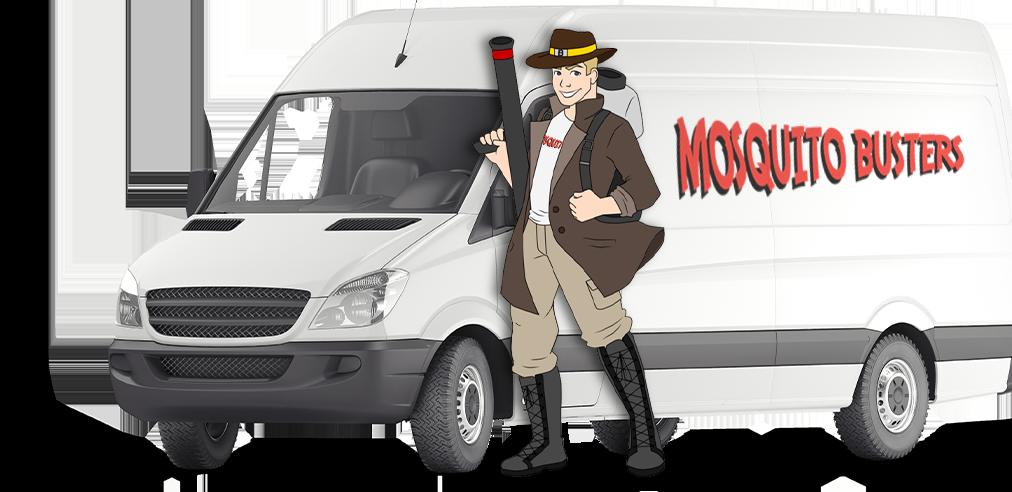 company van with company mascot