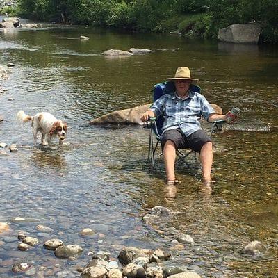 Hang out at the river or lake