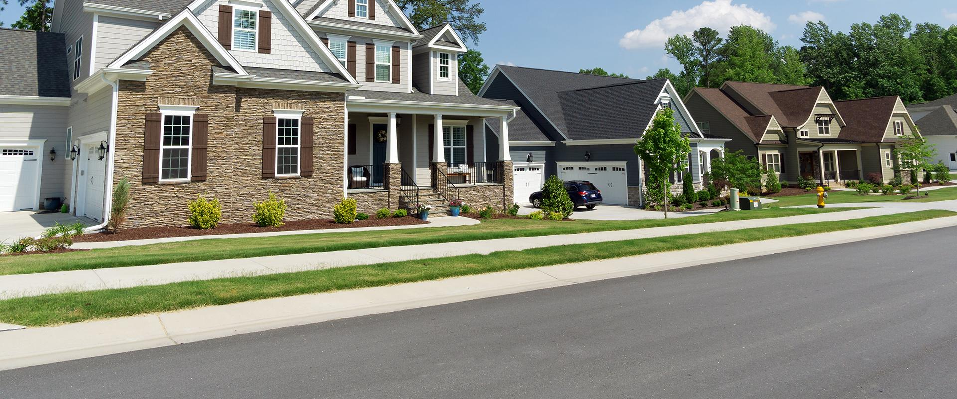 houses along a street in oklahoma city