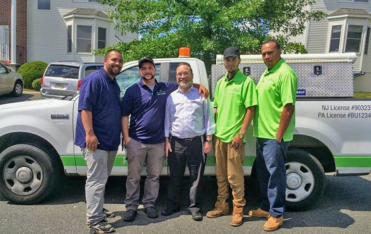 a bugaboo service vehicle and employees at a delaware residence