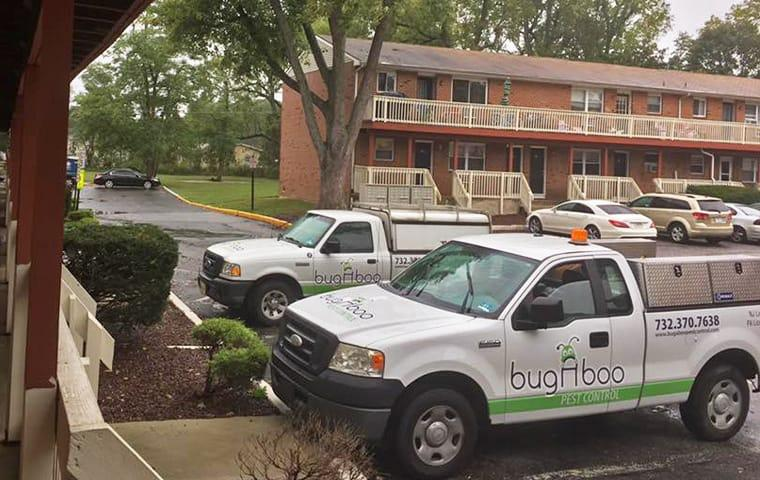a bugaboo truck parked at a motel being serviced in lakewood new jersey