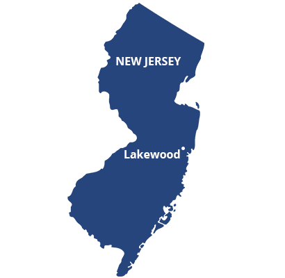 where we service map of new jersey featuring lakewood