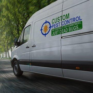 custom pest control company vehicle