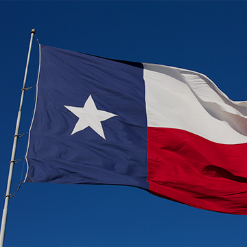 image of a texas flag in boerne texas
