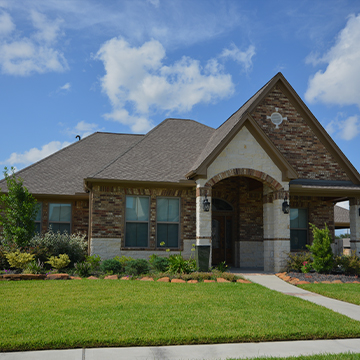 front of a suburban house in boerne texas