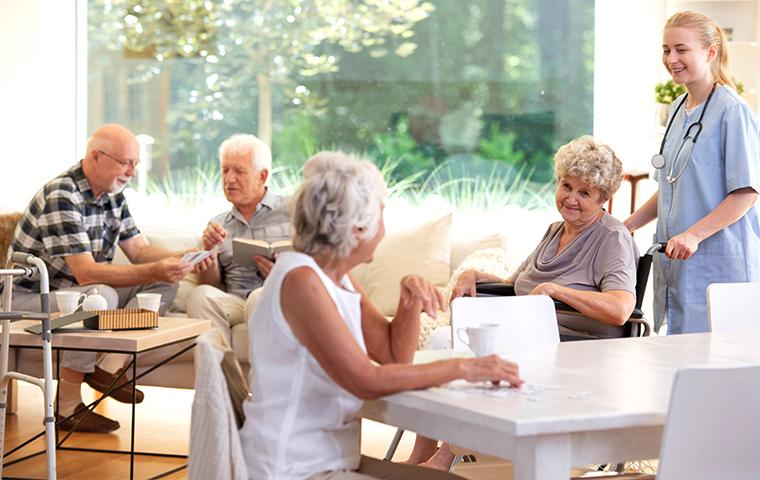 residents inside a retirement community in topeka kansas