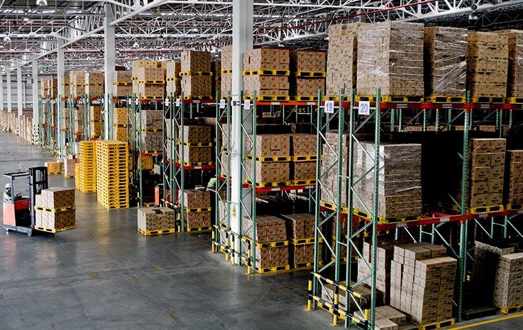 the interior of a commercial warehouse in grandview missouri