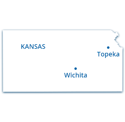 where we service map of kansas