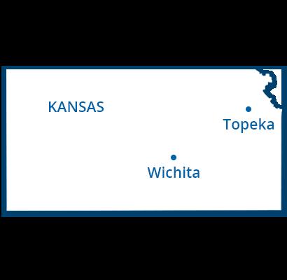 where we service map of kansas