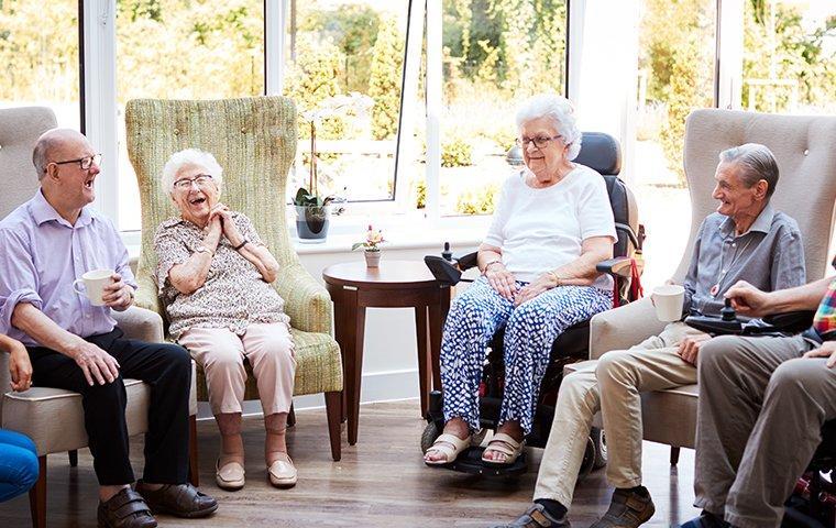 the interior of a retirement community in leavenworth kansas