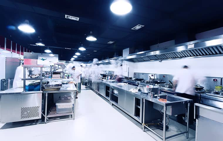 the interior of a commercial kitchen in wichita kansas