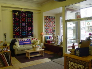 A comfy sitting area to sew and relax