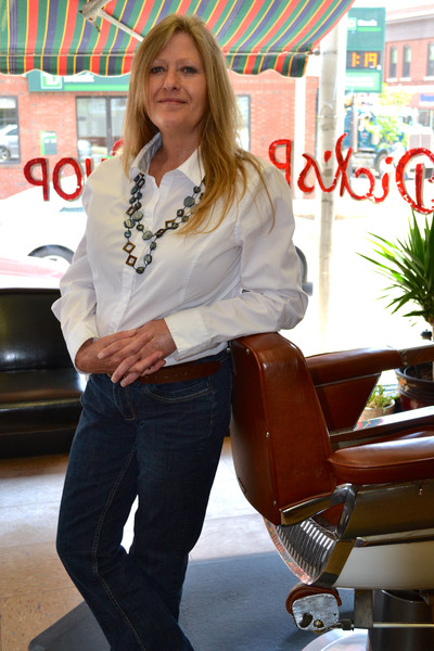 Jennifer Hancock owner and barber for Dick's Barber Shop