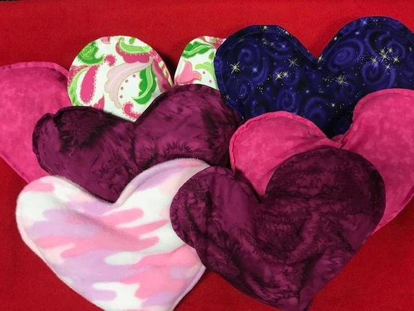 Heart-shaped Hot/Cold Rice Therapy Packs