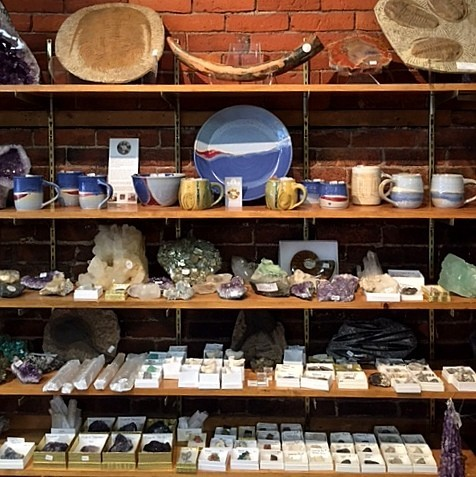 Browse our unique gift ideas ~ Artisan Made Goods, Fossils, Rock and Mineral Specimens.