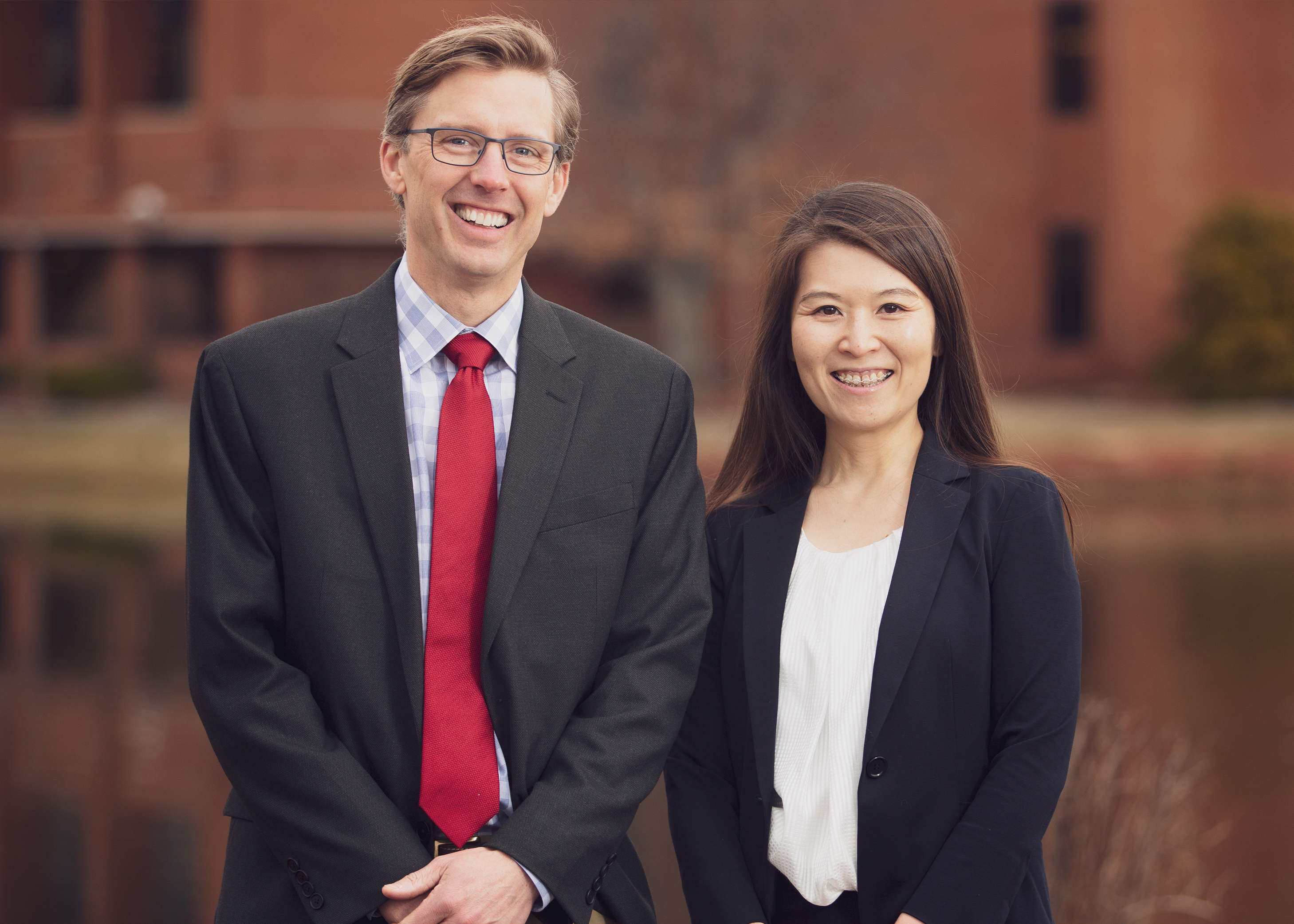 Dr. Devon Evans, Medical Director, Portsmouth, pictured with Dr. Yoko Fukuda