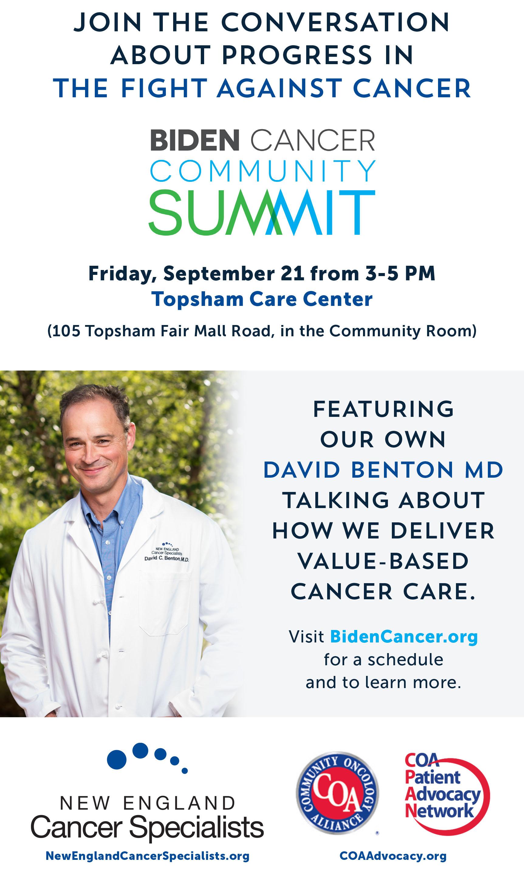 NECS Cancer Summit advertisement