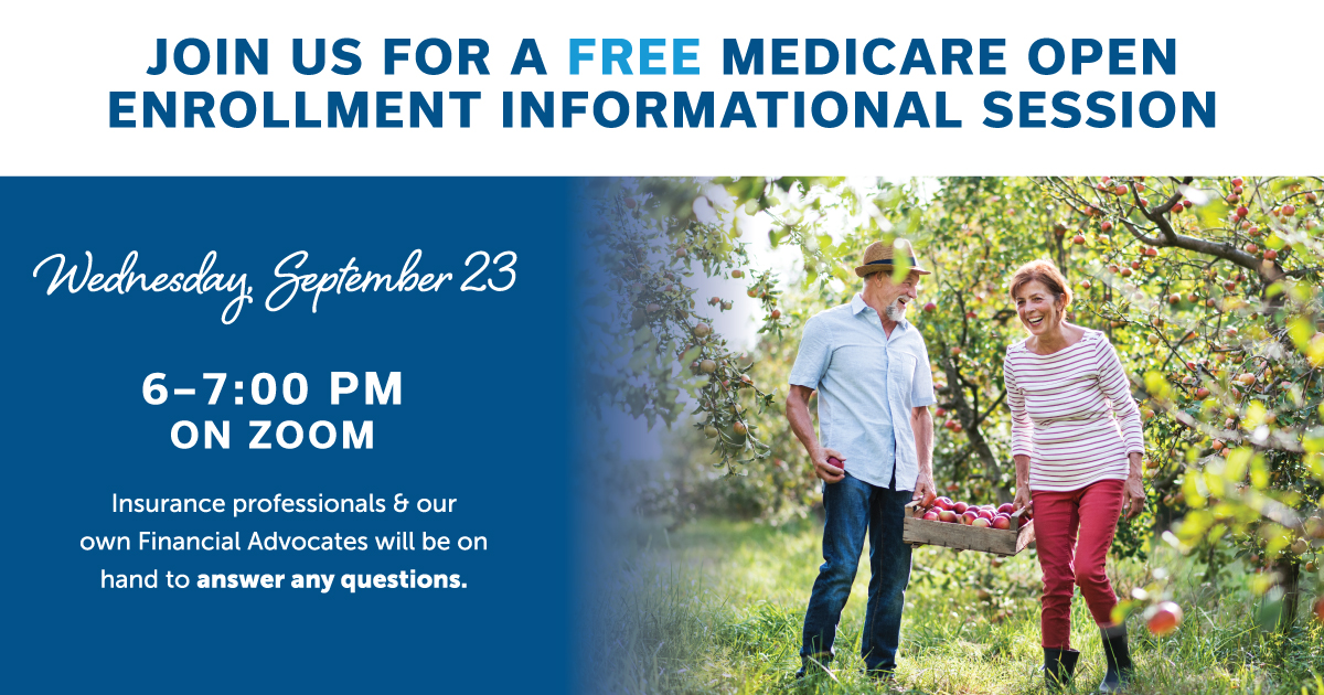 Join us for a free medicare open enrollment informational session