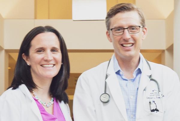 Dr. Devon Evans with Sarah Boucher FNP