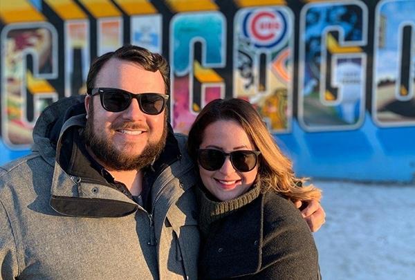 Alexandra with her husband, Ryan