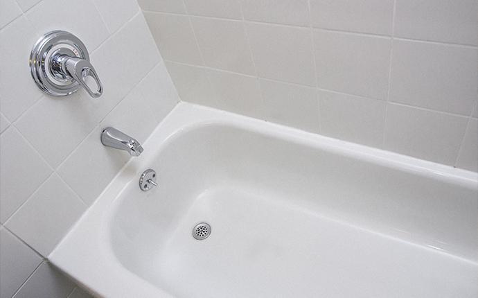 a overhead shot of a bathtub