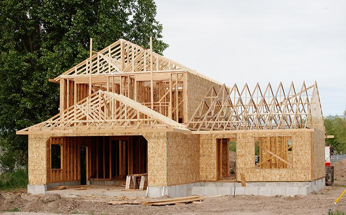 a house in the process of being built