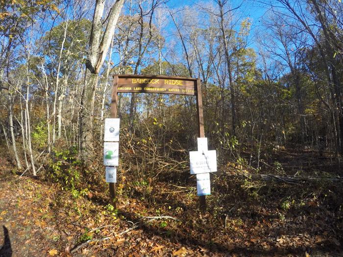 Babcock Ridge entrance sign. (Credit: Dale Wilson)