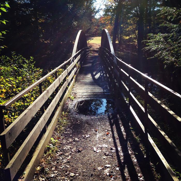 Bridge on camping trail at Black Rock State Park. (Credit: Kim Bradley)