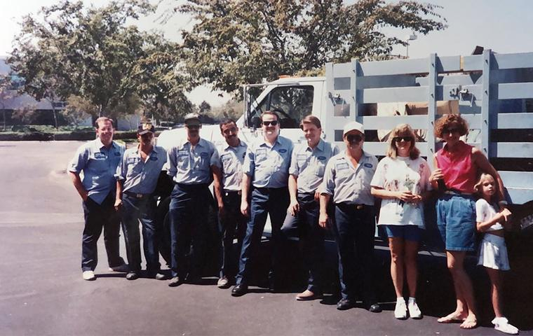 an old photo of admiral pest control family