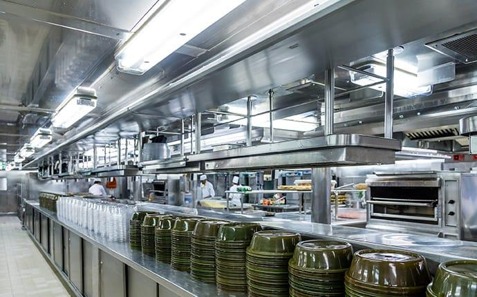 a commercial kitchen in long beach california
