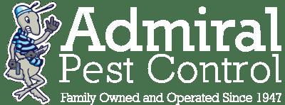 admiral pest control white logo