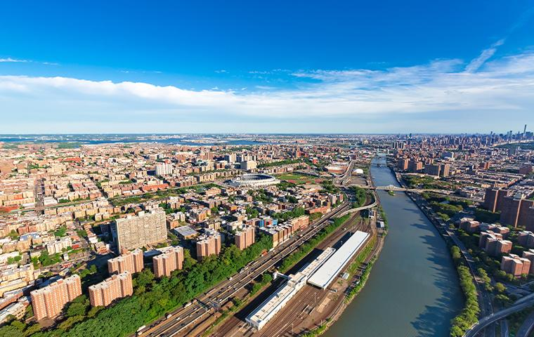 aerial view of the bronx