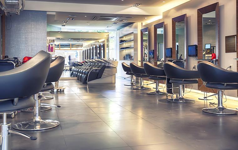 interior of an empty salon