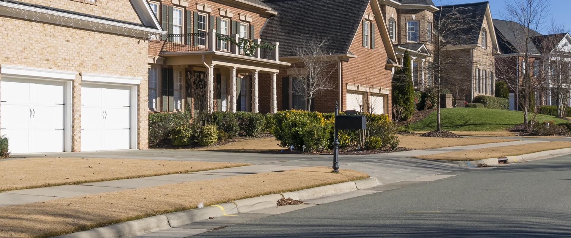 a suburban neighborhood